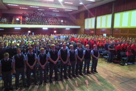 A look at the learners that attended the prize giving of the Southern Cape Sport Tours Schools Tournament in the George Civic Centre.