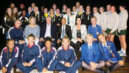 The netball u/17 – u/19 team that was chosen to play in Ireland from 2–11 October 2015.