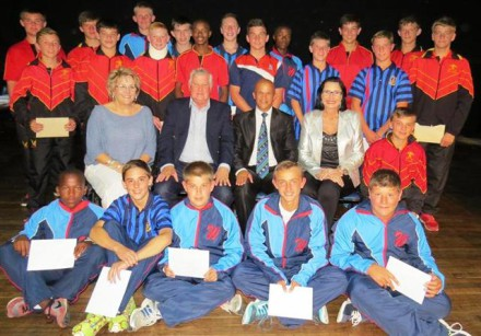 The rugby u/14 team that was chosen to play in Ireland from 2-11 October 2015.