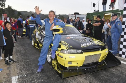 Desmond Gutzeit: crowned King of the Hill in Knysna and his  Nissan GT-R. Picture: Rob Till