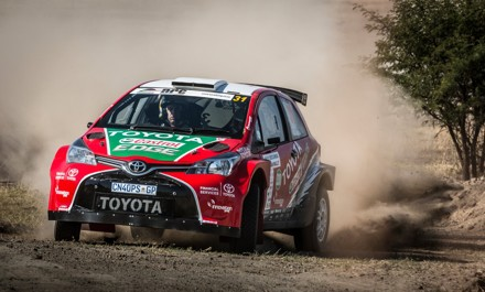 Giniel de Villiers and Carolyn Swan on their way to a podium place in the Secunda Rally. Picture: Quickpic