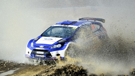 Mark Cronje and Robin Houghton: in top gear at the Secunda Rally. Picture: Eric Buijs
