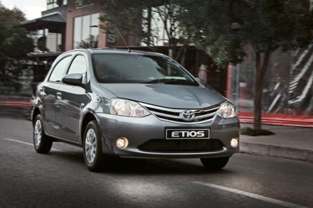 The new look Etios, but underneath it is the same. Picture: QuickPic