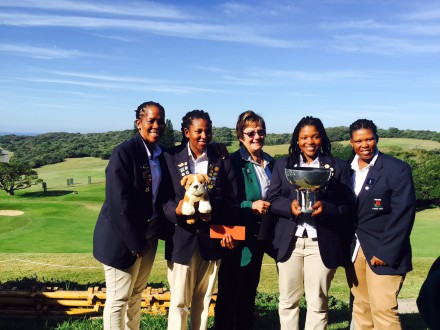 Border lifted the Challenge Trophy title in the 72-Hole Teams Championship at East London Golf Club; credit Millie Zim-Dondashe