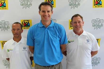 Garry Hampson, SWD Cricket Coaching Manager (center), together with Elridge Booysen (left) – appointed coach for the SWD Girls u/18 team and David Pryke who was appointed as head coach for the SWD u/18 team for the Coca Cola Khaya Majola week.