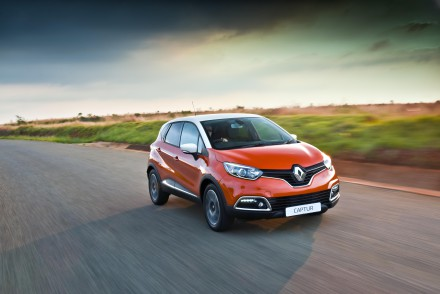 The new Renault Captur Crossover: uses F1 technology. Picture: Quickpic