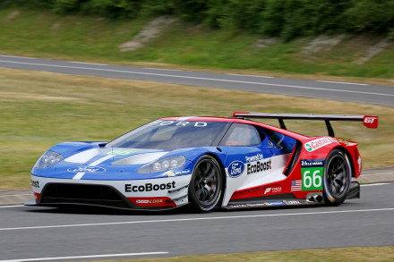 The new Ford GT: in action at Le Mans next year. Picture: Quickpic