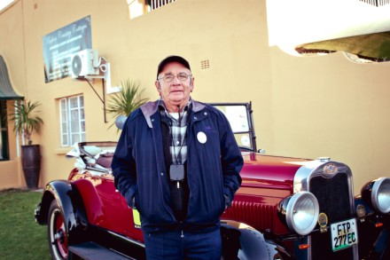 Barney Marais with the 1928 Chevrolet.  Picture: Quickpic