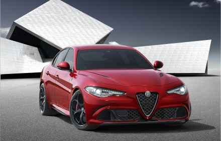Alfa Romeo Giulia: unveiled at the Alfa Romeo Museum in Arese, MIlan. Picture: Quickpic