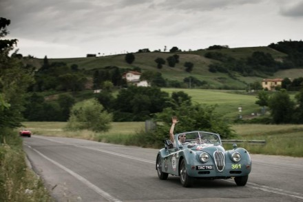 "Driving in the ""most beautiful race in the world"". Picture: Jaguar"