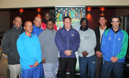 Present at a recent training session for the SWD Provincial Age group coaches were Salvin Hannie (U/15 Head Coach), Elridge Booysen (U/19 Girls Head Coach), Merlin Masimela (U/18 Assistant Coach), Siya Nkosana (U/17 Assistant Coach), Andre Du Plessis (SWD High Performance Coach), David Pryke (U/19 Head Coach), Chicco Ponela (U/13 Assistant Coach), Pieter Stuurman (U/17 Head Coach) and  Wynand De Ridder (U/13 Head Coach).  Ranwill Claassen (Exams) and Mochelle May (work commitments) were absent.