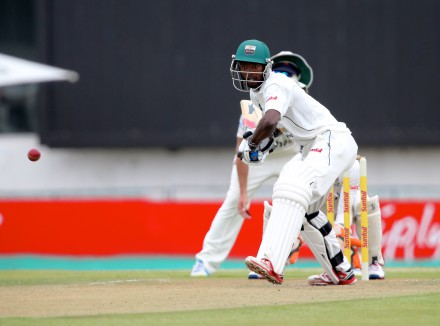Luthando Mnyanda of Chevrolet Warriors during day 1 of the Sunfoil Series match between Chevrolet Warriors and bizhub Highveld Lions at Buffalo Park on February 26, 2015 in East London, South Africa. (Photo by Richard Huggard/Gallo Images)
