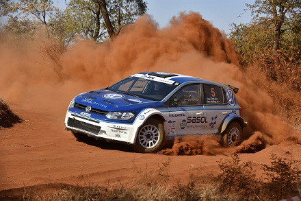Gugulethu Zulu and Hilton Auffray: churning up the dust at Bela-Bela. Picture: Quicpic