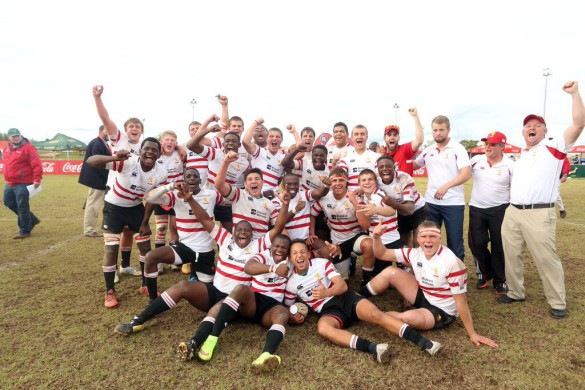 The Lions U16 celebrate their Grant Khomo 'title'. Pic: Gallo Images