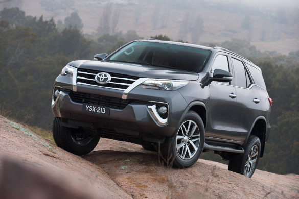 Making its global debut: the Toyota Fortuner. Picture: Quickpic