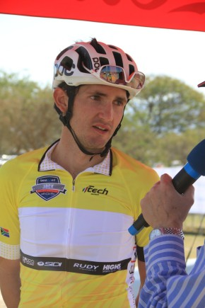 Overnight leader Willie Smit retained the yellow jersey after finishing third in the 140km second stage of the inaugural Bestmed Jock Tour, presented by ASG, in Nelspruit on Saturday