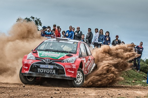 Leeroy Poulter and Elvene Coetzee:     Team Toyota heading for another win.   Picture: Quickpic
