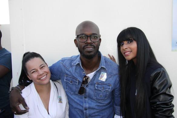 Casual Day ambassador Bernadette Rigney, DJ Black Coffee and Lezanne Naidoo
