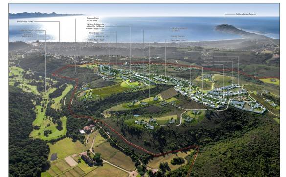 Artist's impression of the site available for development in a prime location in Plettenberg Bay. The 440ha property is priced at R69 million (plus VAT