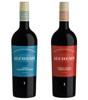 1.     Alchemy Syrah Cabernet Sauvignon 2013.  2.     Alchemy Merlot Malbec Cabernet Franc 2013