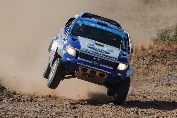 Chris Visser and Japie Badenhorst: old campaigners hope for a better showing in their Ford Ranger. Picture: Quickpic