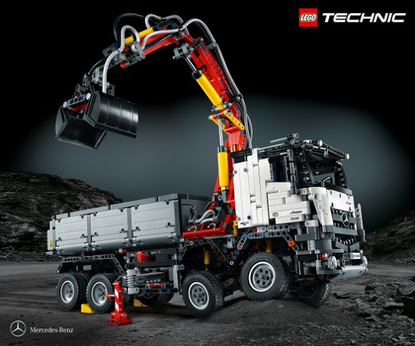 The Arocs 3245 Tipper: it has 2 793 Lego block to keep you busy. Picture: Quickpic