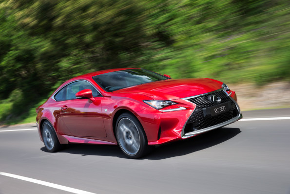 The Lexus RC 350 F-Sport: developed from the ground up. Picture: Quickpic