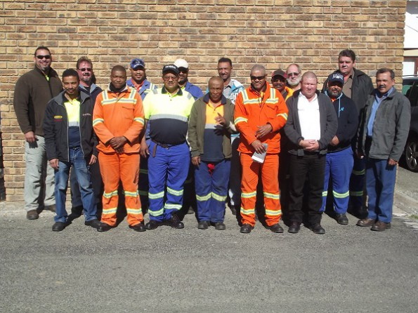 The following persons (in no specific order) attended the training session:  (Eden) messrs A. Cupido, E. Laws, M. du Plessis, G. Sinkfontein, D. Krohn, J. Klaas, K. Jafta en G. Fourie. (Western Cape Province) messrs L. Strydom, D. Oosthuizen, T. Plaatjies, T. van der Walt, N. Bezuidenhout and (Central Karoo) messrs J. Telles and E. Appies, with the facilitator, Mr R Olivier (right)