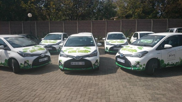 Going green: the fleet of hybrids which will be used by the City of Cape Town. Picture: Quickpic