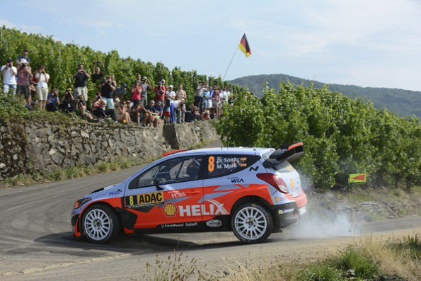 Dani Sordo: holding onto fourth place. Picture: Quickpic