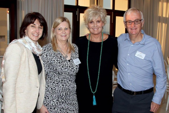 Seen at the Garlicke & Bousfield ladies Breakfast held at the Oyster Box Hotel is Yvonne Boden, and Aletta de Lange both (Garlicke & Bousfield) PJ Powers (Guest Speaker) and Dave Ramsay (Garlicke Bousfield)
