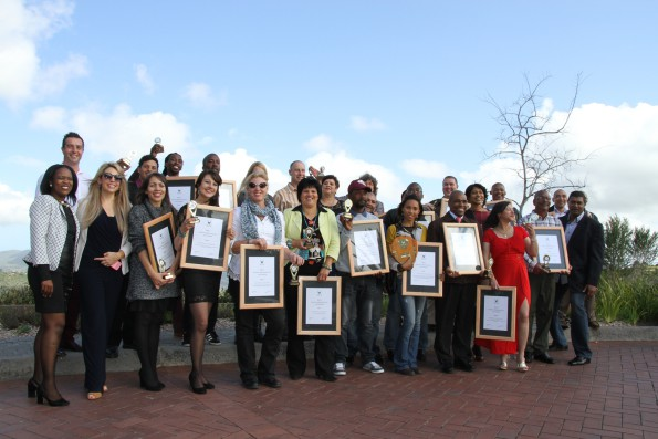 Group picture with all winners. Also in the picture: GM: GRNP, Jill Bunding-Venter (2nd row, 7th from left), GM: Simola Hotel, Janus Schoeman (2nd row, 1st left, ) and Mrs SA finalist, Jackie Louw (1st row, 2nd left).