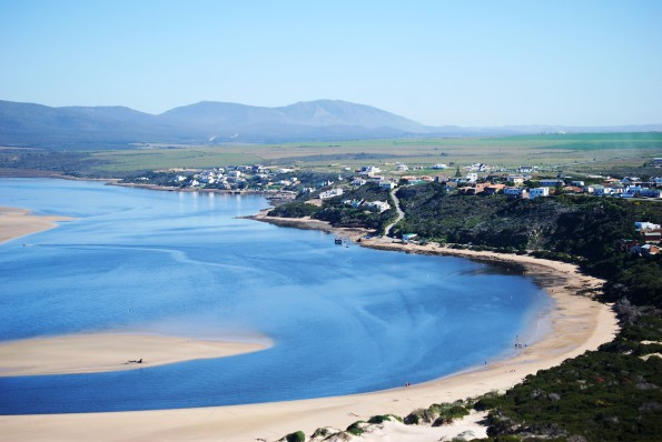 Witsand: Aerial view of Witsand