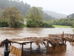 Eden District disaster manager Wouter Jacobs said Knysna had received the highest recorded rainfall, with 115mm measured at Knysnas Charlesford weather station by 8am yesterday.