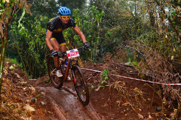 South African sub-veteran marathon champion Henry Uys mastered the wet and slippery riding conditions atop the Krugersdorp Ridge to claim the victory in the Pennypinchers Silverstar MTB Challenge, presented by ASG, on Saturday.