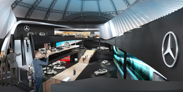 Mercedes Benz:  visitors can be part of the installation. Picture: Quickpic