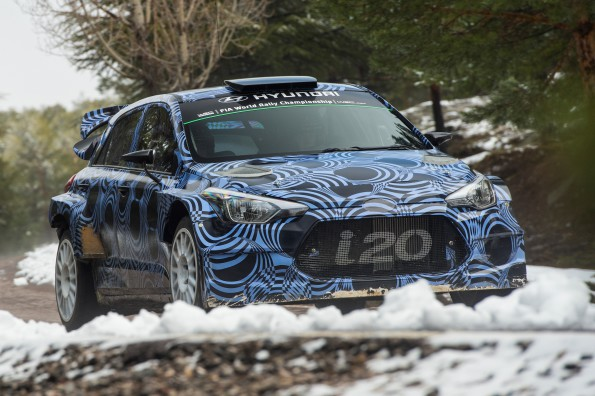Hyundai at Frankfurt: the new i20 rally car. Picture: Quickpic