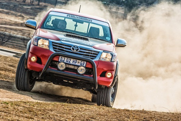 The Toyota Hilux: Racing Experience to celebrate one million sales. Picture: Quickpic