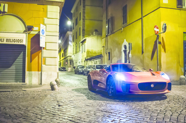 The Jaguar C-X75: high-speed chase in Spectre. Picture: Jaguar
