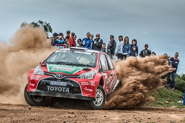 Leeroy Poulter and Elvene Coetzee: crashing out of the dealer rally. Picture: Quickpic
