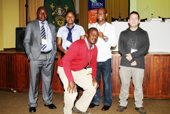Mr Johannes Belle (University of Free State - UFS), Ms Olivia Kunguma (DimTech), Mr Molefi Mpeko (Newcastle Fire and Disaster Management), Mr Hannes Koch (UFS) and Mr Witness Mutero (UFS) also attended the Conference