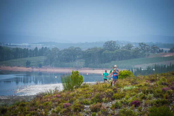 Trail runners in action at the 2015 PUMA Trail Run in Grabouw.  Photo Credit:  Volume Photography
