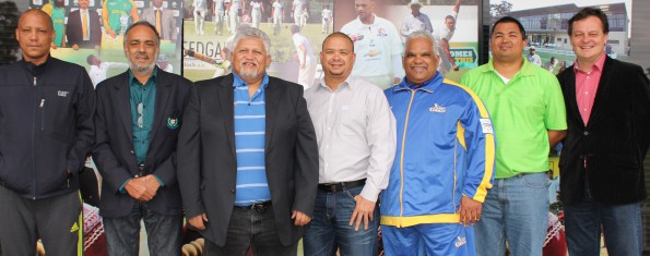 Present at the Western Cape Cricket meeting that was held in Oudtshoorn on Saturday were James Fortuin (CEO Boland Cricket), Nabeal Dien (CEO, Western Cape Cricket), Beresford Williams (President Western Province Cricket Association and Chairman of the Board of Directors of Western Cape Cricket), Angelo Carolissen (President of Boland Cricket), Rustin Constance (Member of Board of Directors of SWD Cricket) and Albertus Kennedy (CEO; SWD Cricket)