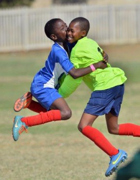 Winners U12 Paaderkraal Primary celebrating