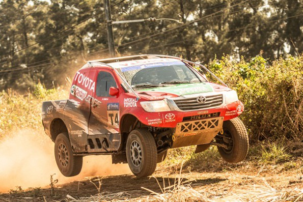 Leeroy Poulter and Rob Howie: will be driving an older spec Hilux in Morocco. Picture: Quickpic