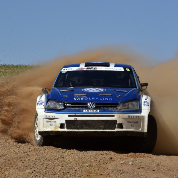Gugu Zulu and Hilton Auffray: showing their stuff in the Western Cape dealer rally. Picture: Motorpress