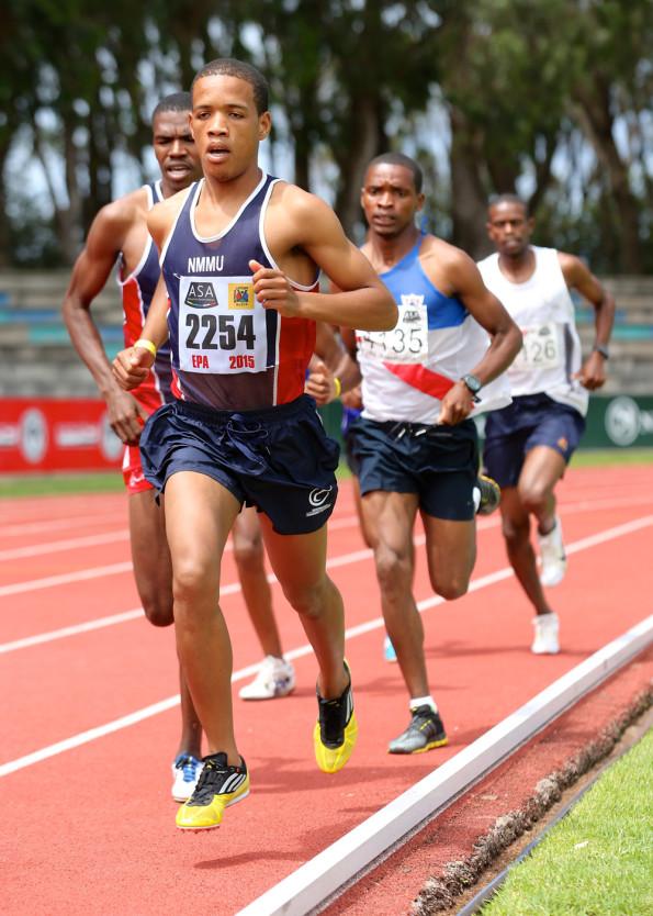 Mariano Eesou from NMMU Madibaz. Photo: Richard Huggard