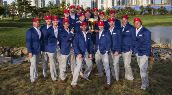 It came down to the final pairing on the final hole on Sunday, but the U.S. Team was able to hold onto the Presidents Cup with their sixth consecutive victory over a competitive International squad. (Chris Condon/PGA TOUR)