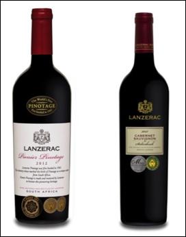 Left: Lanzerac Pionier Pinotage 2012 Right: Lanzerac Cabernet Sauvignon 2013