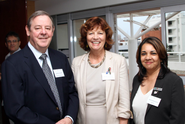 Richard Cookson (G&B), Frances Chisholm (US Consul General), Arthi Ramkissoon (MATCH)